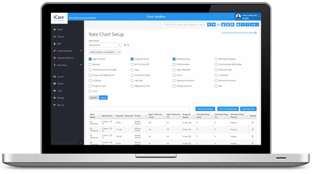 Can iCare's rate chart modeler increase your revenues and clientele?