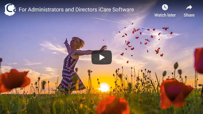iCare management software for administrators