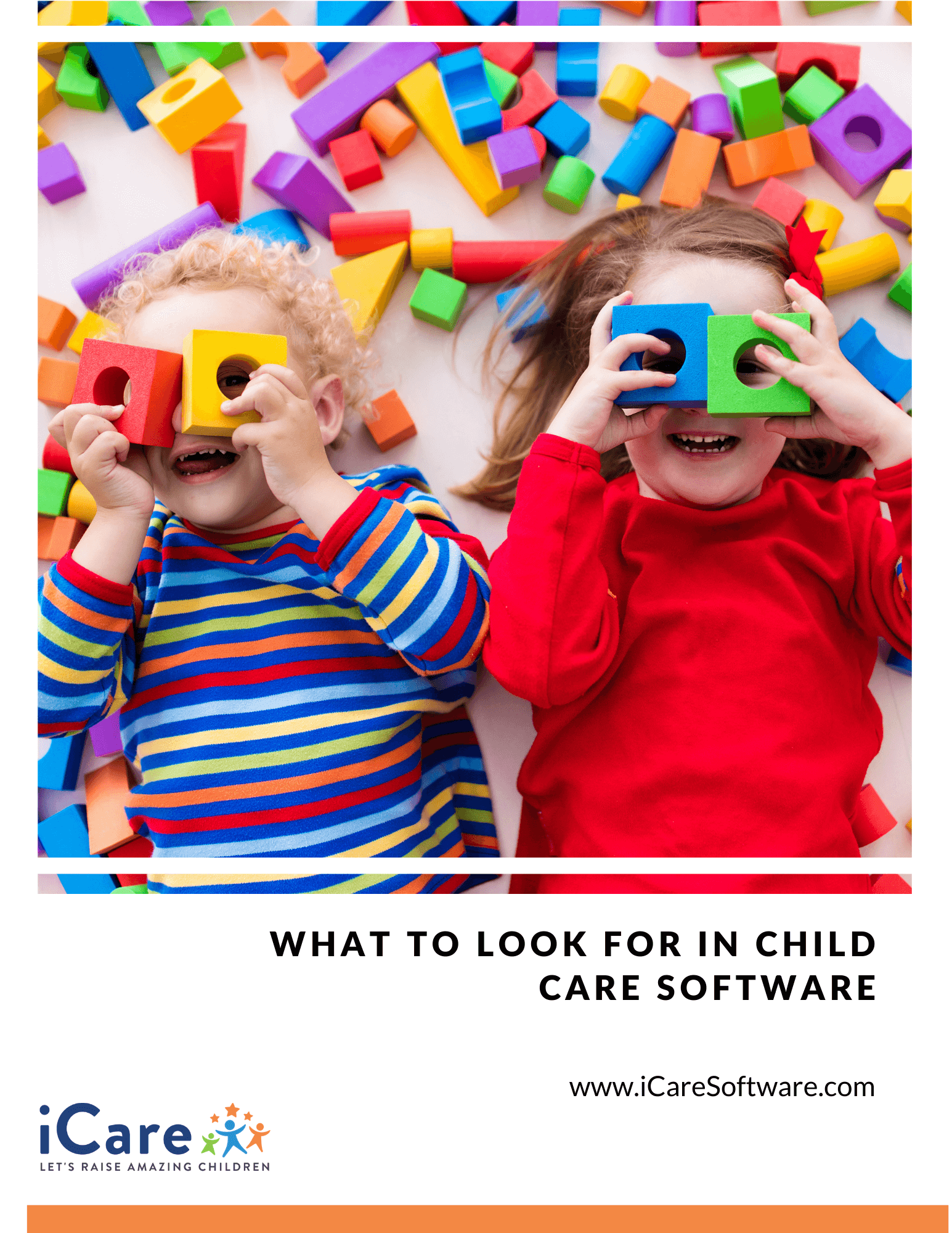 Image showing the cover of the eBook What to Look for in Child Care Software