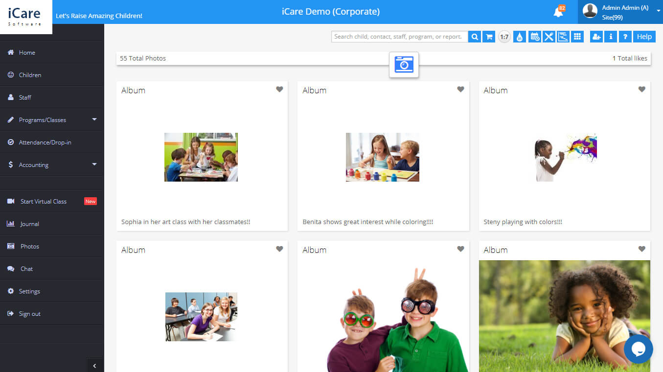 iCare Childcare Management Software Gallery
